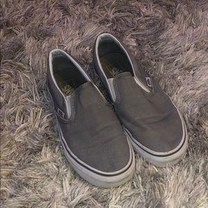 light gray slip on vans